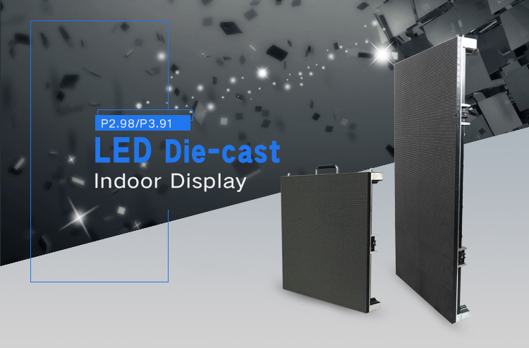 Die-casting Aluminum large P3 indoor rental led screen display video walls
