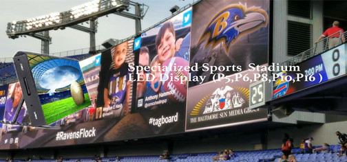 LED screen manufacturer P6 P8 P10 stadium commercial advertising stadium led display screen
