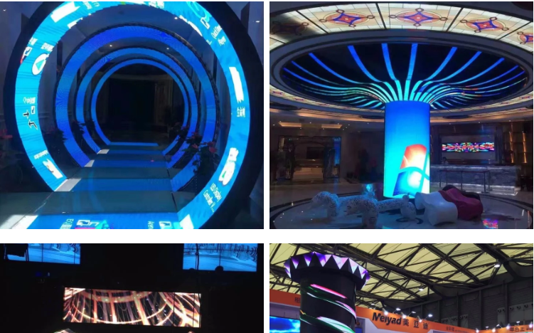 Flexible led display p3 indoor soft flexible led module/led display screen/led