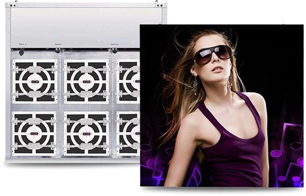 World first-Outdoor wall mounted front service LED display video screen /front service modules P10